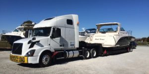 Boat Hauling Services for a 42' Riva Power Boat